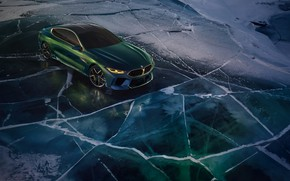 Picture snow, coupe, ice, BMW, 2018, M8 Gran Coupe Concept