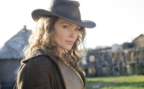 Picture look, hat, Western, Dina Meyer, Dead in Tombstone, Galatea, Dead from Tombstone, Dina Mayer