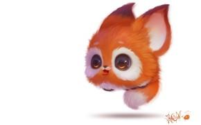 Picture art, Fox, pussy, Illustrator, children's, 2D, JoAsLiN ., Bouncy Thing