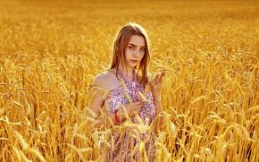 Picture girl, dress, ears, Aliona Turcan, Vyacheslav Turcan