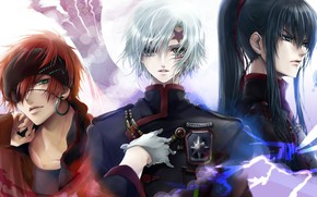 Picture anime, art, guys, trio, D.Gray-man