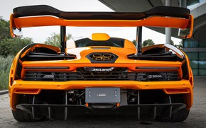Picture orange, mclaren, senna, 2160p