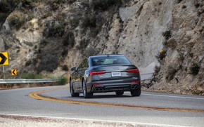 Picture Audi, turn, sedan, Audi A6, 2020, Audi S6, US-version