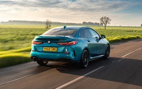 Picture field, speed, BMW, rear view, Gran Coupe, UK-spec, 2-Series, M Sport, 2020, 218i, F44