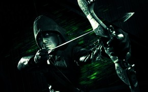 Picture background, bow, hood, gloves, Archer, comic, Green Arrow, Arrow, DC Comics, Arrow, Green Arrow