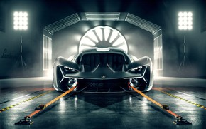 Picture Lamborghini, Light, Front, View, Hypercar, The Third Millennium