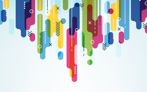 Picture white, abstraction, background, Colorful, Geometric, Shapes