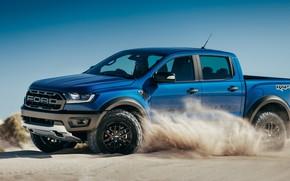 Picture sand, Ford, Raptor, pickup, Ranger, 2019