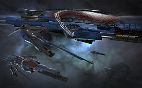 Picture nebula, station, Space, space, spaceship, eve online, space ship, coooper