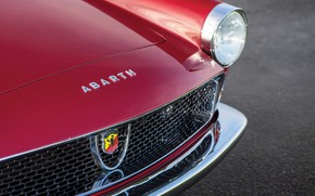 Picture Headlight, Bumper, The hood, Fiat, Chrome, 1959, Classic car, Abarth, Icon, Sports car, Grille, Fiat …