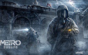 Picture Moscow, station, mask, Stalker, Metro Exodus, Pavel bondarenko, Smolensk