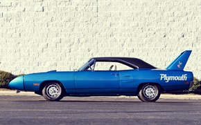 Picture Blue, Plymouth, Superbird, Road Runner