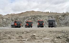 Picture scania, 6x6, dump truck