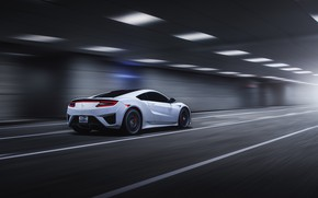 Picture speed, Honda, rear view, 2018, Acura, NSX, by Jimmy Zhang