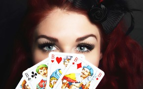 Picture card, girl, the fortune teller