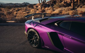 Picture Lamborghini, supercar, spoiler, Aventador, HRE, Superveloce, LP-750, Aventador SV, Viola Parsifae