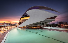 Wallpaper architecture, Spain, complex, Valencia, The city of arts and Sciences