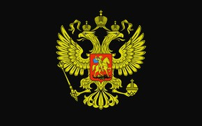 Picture coat of arms, Russia, double-headed eagle