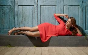 Picture girl, legs, beautiful, figure, model, beauty, brunette, pose, makeup