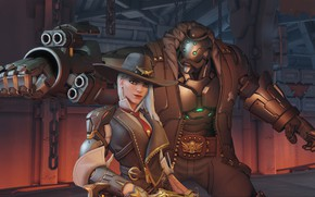 Picture game, Blizzard, Ashe, Bob, Overwatch