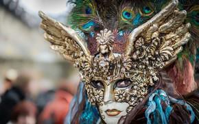 Picture mask, Venice, masquerade