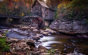 Picture house, river, mill