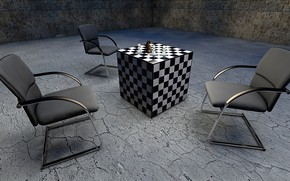 Picture chairs, club, cells, cube, figure, shahmay