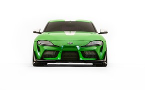 Picture Toyota, front view, Supra, 2019, GR Above, A90, SEMA 2019, Wasabi Concept