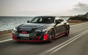 Picture road, movement, Audi, coupe, 2020, RS e-Tron GT Prototype
