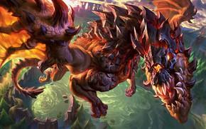 Picture lake, dragon, League of Legends, League Of Legends
