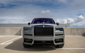 Picture Rolls Royce, Front, Face, Graphite, Cullinan, Luxury SUV