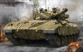 Picture main battle tank, the composition of the MSA included a thermal imager, Merkava Mk.2B