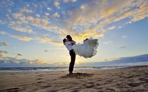 Picture wedding, bride, groom