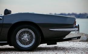 Picture black, Maserati, 1969, Roadster, bumper, spider, pipes, Ghibli Spider