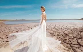 Picture style, dress, blonde, the bride, fashion