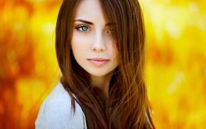 Picture look, background, model, portrait, makeup, hairstyle, brown hair, beauty, bokeh, Natalya, Ann Nevreva