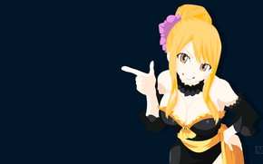Picture girl, smile, Lucy, Fairy tail, Fairy tail