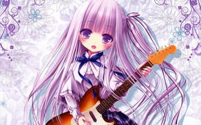 Picture Guitar, art, girl, tinkle, goto jun, tenshi no three piece