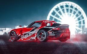 Picture Red, Auto, Machine, Tuning, Drift, Auto, Render, Miata, Rendering, Transport, MX-5, Mazda MX-5, Transport & …