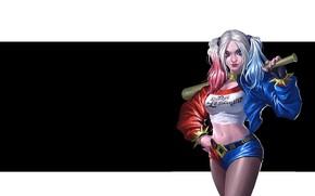 Picture art, Batman, Harley Quinn, DC Comics, Harley Quinn, Simple Wang, King of Kings 2