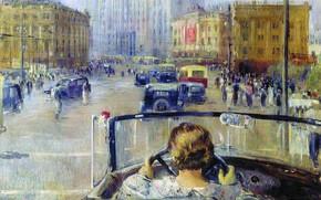 Picture Road, Convertible, People, The wheel, Cars, Новая Москва, Юрий Пименов, Гостиница «Москва», New Moscow, Yuri …