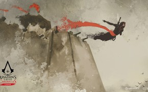 Picture China, game, jump, walls, man, Assassin's Creed, jumping, castle, digital art, artwork, Assassin's Creed: Chronicles, …