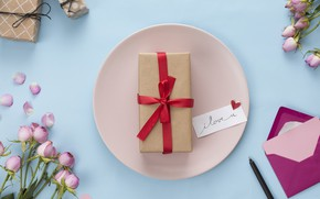 Picture letter, roses, handle, tape, gifts, composition