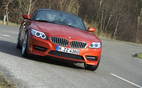 Picture road, trees, BMW, Roadster, 2013, E89, BMW Z4, Z4, sDrive35is