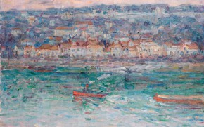 Picture landscape, picture, Tugboat on the Seine, John Peter Russell, John Peter Russell