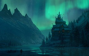 Picture landscape, art, Assassin's Creed, Viking, Ubisoft Montreal, assassins, Valhalla, Assassin's Creed Valhalla