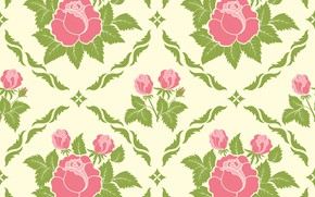 Picture background, pattern, roses, texture, rosebuds