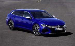 Picture blue, shadow, Volkswagen, universal, Shooting Brake, 2020, Arteon, Shooting Brake R, Arteon R