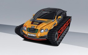 Picture Bentley, Figure, Machine, Tuning, Style, Car, Caterpillar, Art, Transport & Vehicles, Dmitry Strukov, by Dmitry …