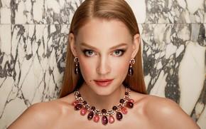 Picture look, girl, decoration, portrait, makeup, beautiful, Svetlana Khodchenkova